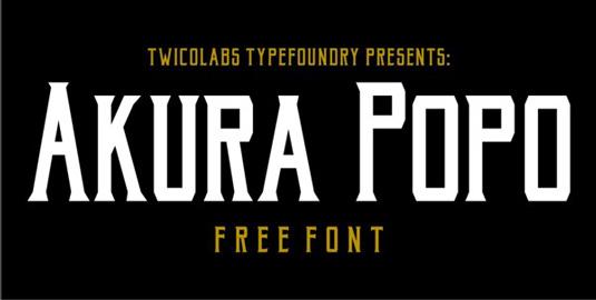 Free retro fonts: Akura Popo