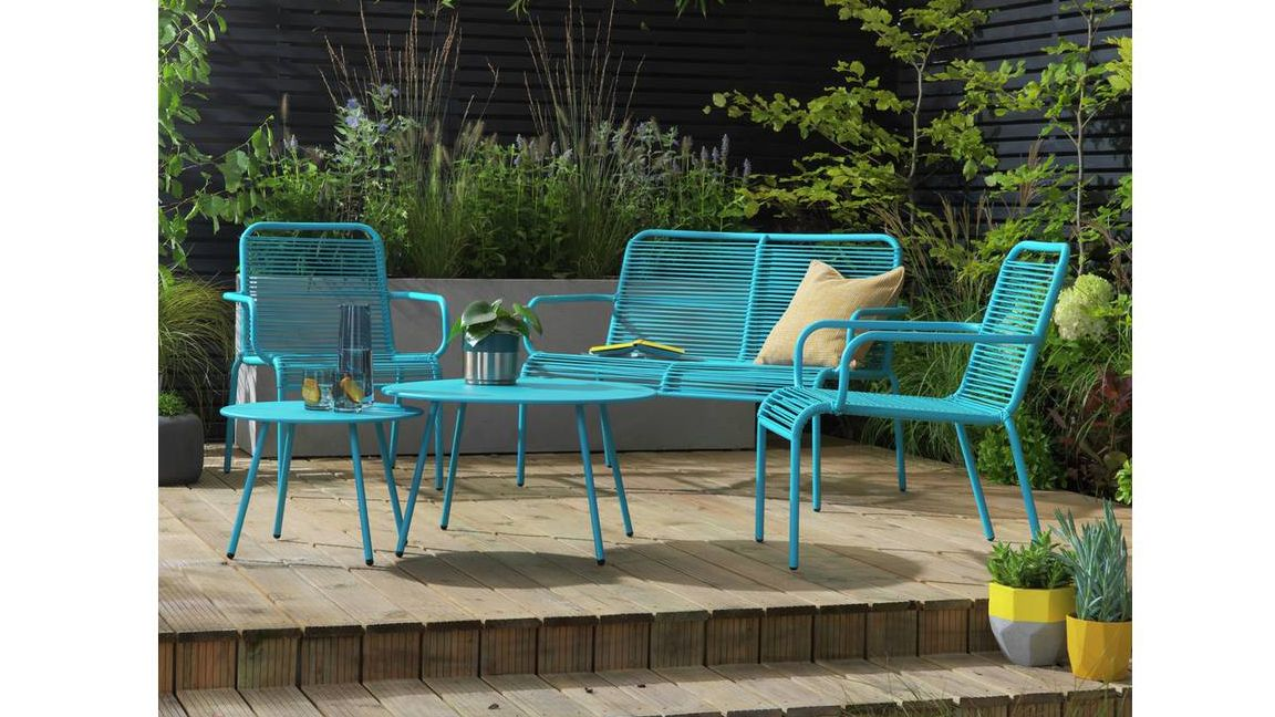 Stand out from the crowd with this tropical garden furniture from Argos