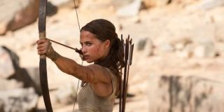 Lara with her bow and arrow
