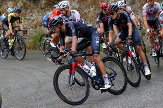 Ineos Grenadiers' Egan Bernal descends cautiously during stage 1 of the 2020 Tour de France