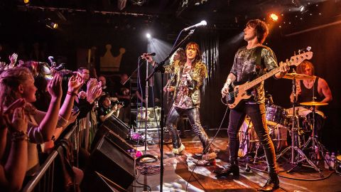 A photograph of The Struts on stage at Dingwalls