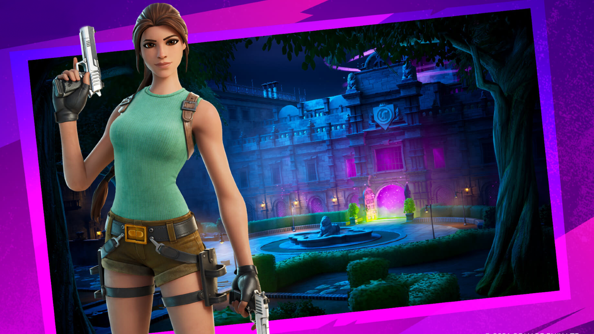 Fortnite's Croft Manor level looks pretty darn cool, gifts free item