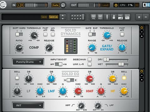 The Solid EQ offers two very different styles of equalisation, both of which have their uses.