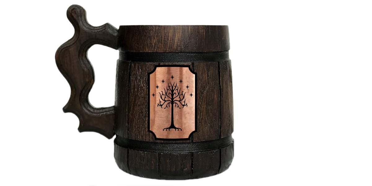 Tree Of Gondor Wooden Mug