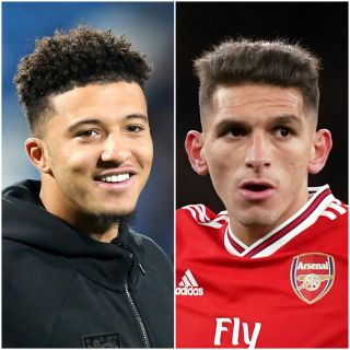 Jadon Sancho (left) and Lucas Torreira could be on the move