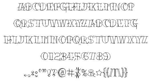 Tattoo fonts: Tattoo Lettering
