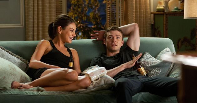 "Caption: Mila Kunis as""Jaime""and Justin Timberlake as""Dylan""in Screen Gems' FRIENDS WITH BENEFITS.Photo By: David Giesbrecht"