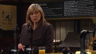 Kim spikes Dawn's drink in Emmerdale