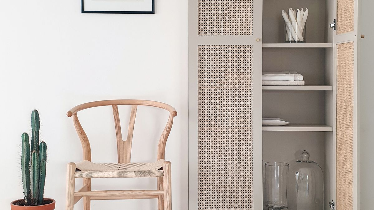 This rattan BILLY bookcase transformation is the ultimate twist on the original