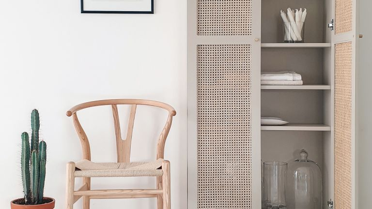 Rattan IKEA BILLY bookcase hack