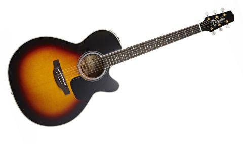 There's a retro-looking brown Sunburst finish, spruce/flame maple construction and snowflake-inlaid bound ebony 'boards