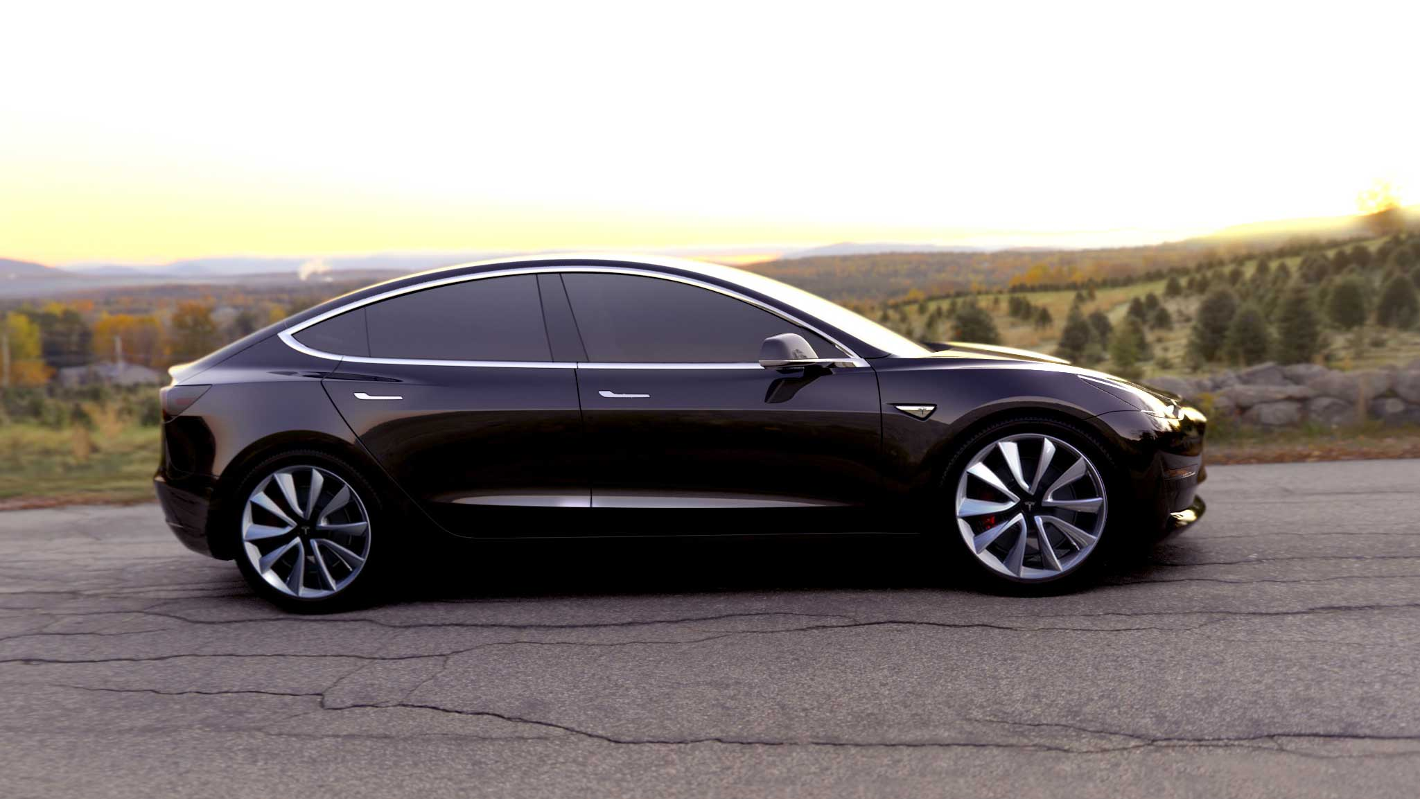 Tesla Model 3 with all-wheel drive could start rolling off