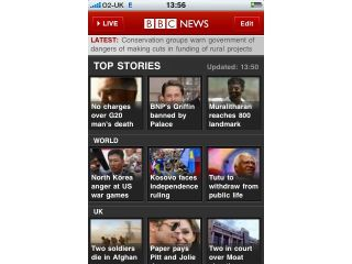 The BBC News app goes live for the iPhone