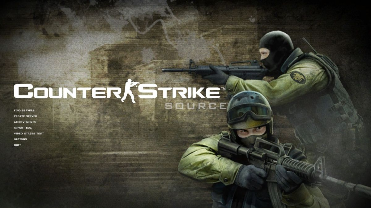 Counter Strike Source menu