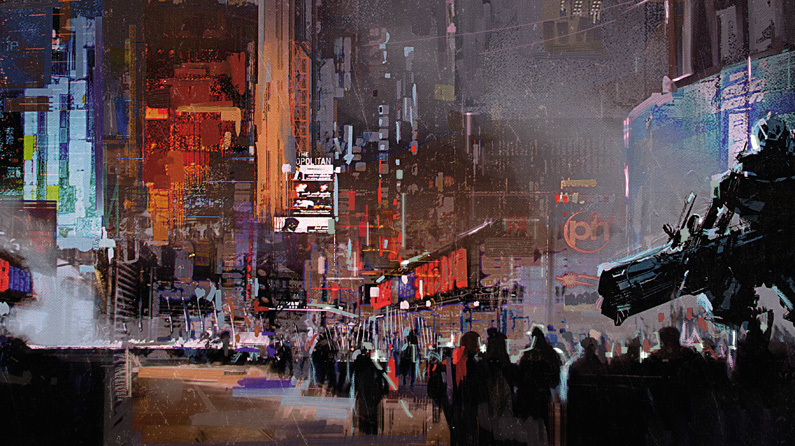 How to create a futuristic city with Photoshop textures