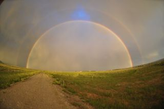 Another double rainbow in Wyoming, photographed on July 18, 2012.