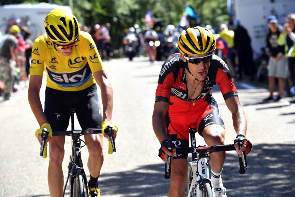 Richie porte on tour de france alps battle with froome for Richie porte cyclist