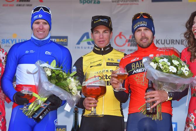 The top 3 at the 2018 Kuurne-Brussel-Kuurne