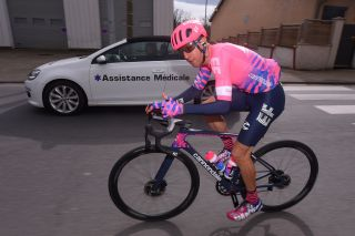 LA CTESAINTANDR FRANCE MARCH 12 Michael Woods of Canada and Team Ef Education First during the 78th Paris Nice 2020 Stage 5 a 227 km stage from Gannat to La CteSaintAndr on ParisNice parisnicecourse PN March 12 2020 in La Cote France Photo by Luc ClaessenGetty Images