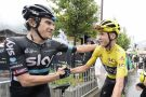 Geraint Thomas and Chris Froome after stage 20 of the Tour de France (Sunada)