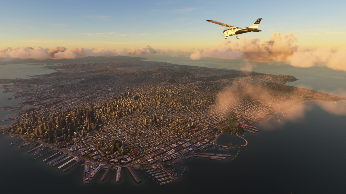 Fly anywhere in the world in the impossibly massive Microsoft Flight Simulator