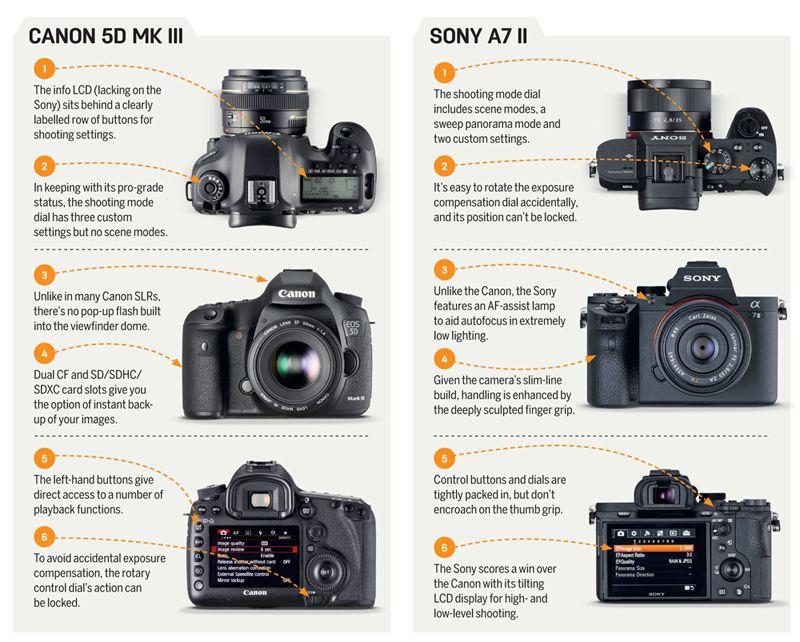 Canon Eos 5d Mark Iii Vs Sony A7 Ii Techradar