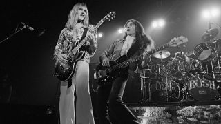 Rush onstage in 1976