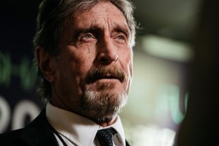 John McAfee speaks during a Bloomberg Television interview on the sidelines of the Shape the Future: Blockchain Global Summit in Hong Kong, China, on Wednesday, September 20, 2017.