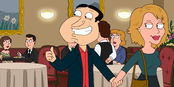 quagmire on date in restaurant family guy