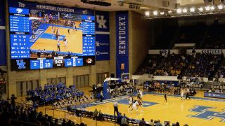 A new dual-LED display solution powered by Renewed Vision software is now driving all scores, player statistics, live video, and instant replays for women's sports at Memorial Coliseum, home of the Kentucky Wildcats NCAA women's basketball team.