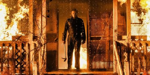 A killer returns home once more in 'Halloween Kills.'