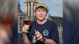 Bruce Dickinson with the new Hallowed beer