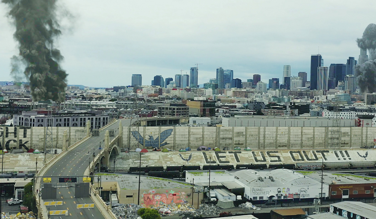 Songbird, Los Angeles on location filming