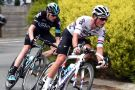Peter Kennaugh and Chris Froome on stage one of the 2016 Jayco Herald Sun Tour