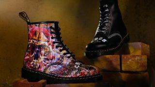A shot of the Dr Martens x CBGB boots