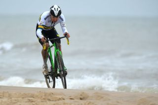 OOSTENDE BELGIUM JANUARY 31 Heinrich Haussler of Australia Sea Sand Beach during the 72nd UCI CycloCross World Championships Oostende 2021 Men Elite UCICX CXWorldCup Ostend2021 CX on January 31 2021 in Oostende Belgium Photo by Luc ClaessenGetty Images