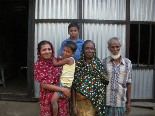 A family in rural Matlab, Bangladesh