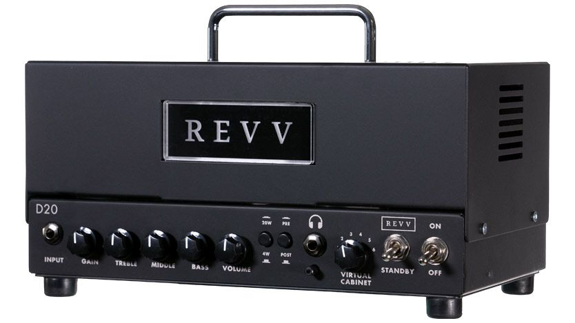 Revv's D20 is the world's first Two Notes Torpedo-equipped guitar amp