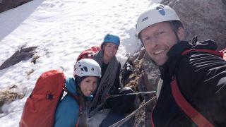 a trio of climbers