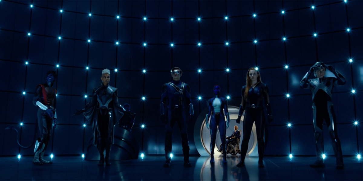 X-Men together at the end of X-Men Apocalypse