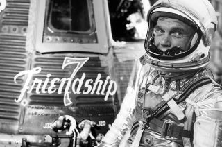 John Glenn Before His Historic Flight