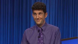 Matt Amodio giving Final Jeopardy answer on Jeopardy