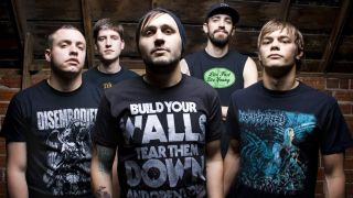 After The Burial pictured with Justin Lowe, left