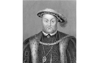An engraving of King Henry VIII