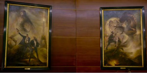 men in black international oil paintings, agent j and k from original movie
