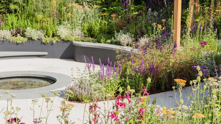 small garden pond ideas - The cancer research uk pledge to progress garden by tom simpson for hampton court 2019