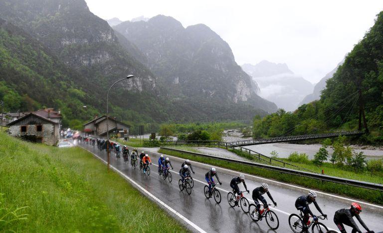 The Giro d'Italia peloton