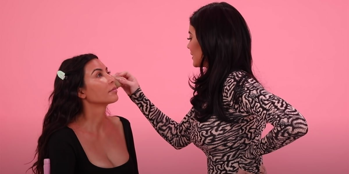 Kylie Jenner screenshot doing Kim's makeup