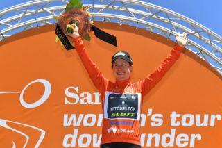 Mitchelton-Scott's Amanda Spratt won her third consecutive Tour Down Under in 2019