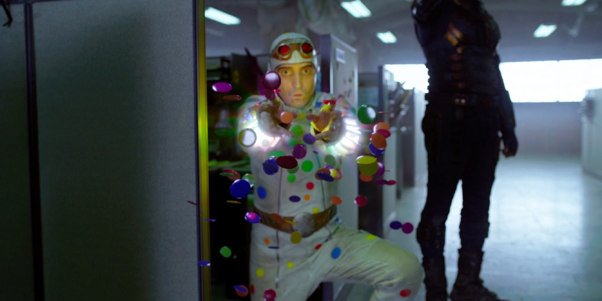 Polka-Dot Man using his powers in The Suicide Squad